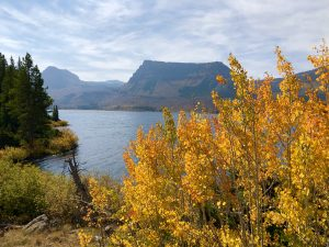 Trappers Lake with fall colors